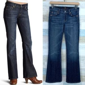 7 For All Mankind Bootcut Jeans Low Rise Dark Wash